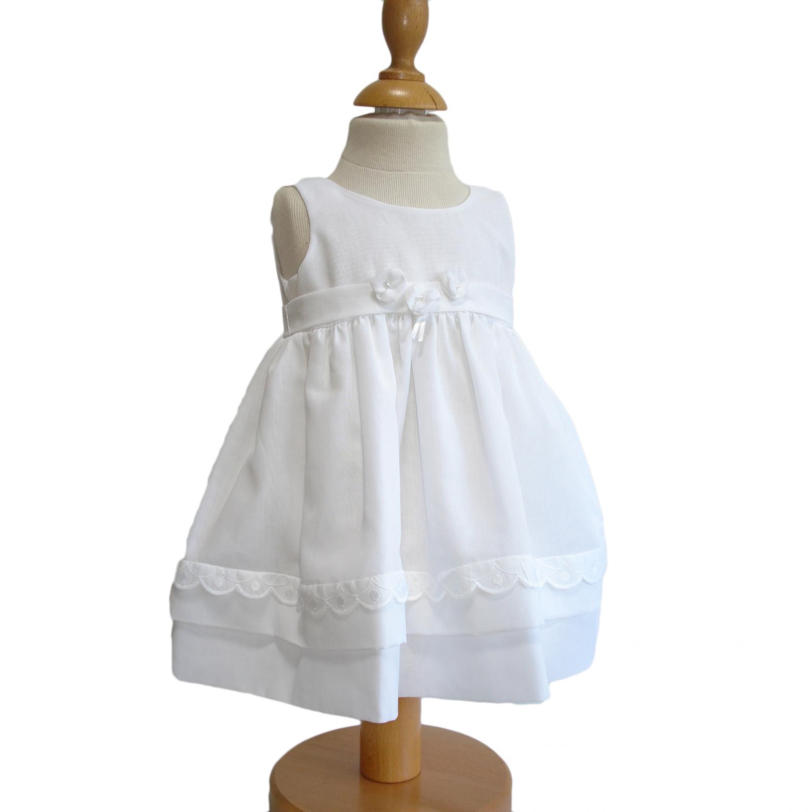 Robe blanche 24 mois